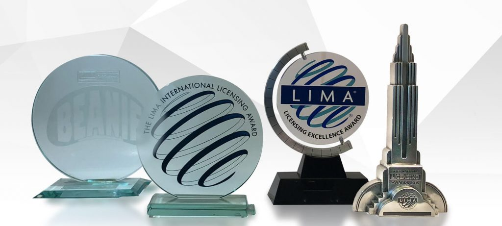 LIMA Award trophies